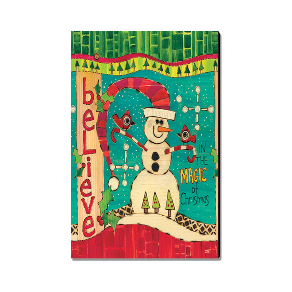 Burgess' Magic Snowman - Mailable Wood Postcard - Single Image Multi Pack DaydreamHQ
