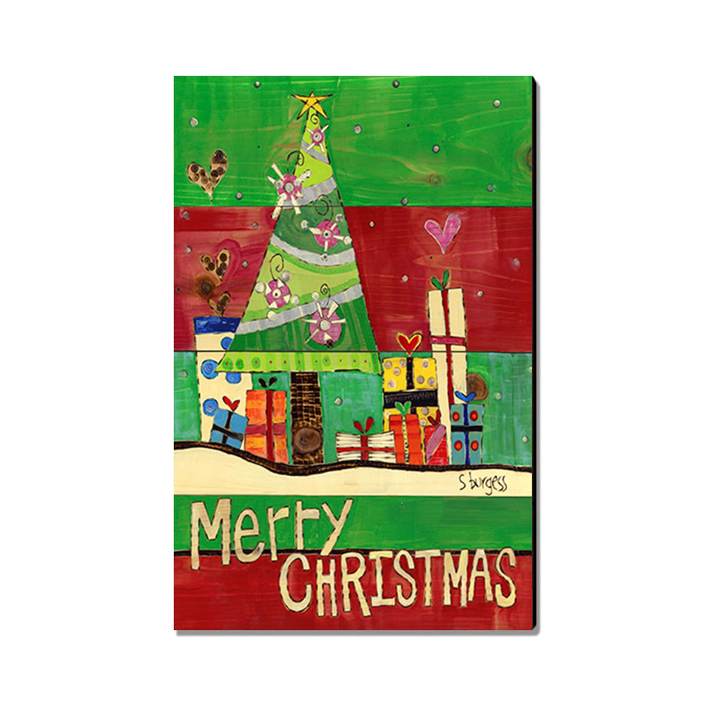Burgess' Merry Christmas Presents - Mailable Wood Postcard - Single Image Multi Pack DaydreamHQ