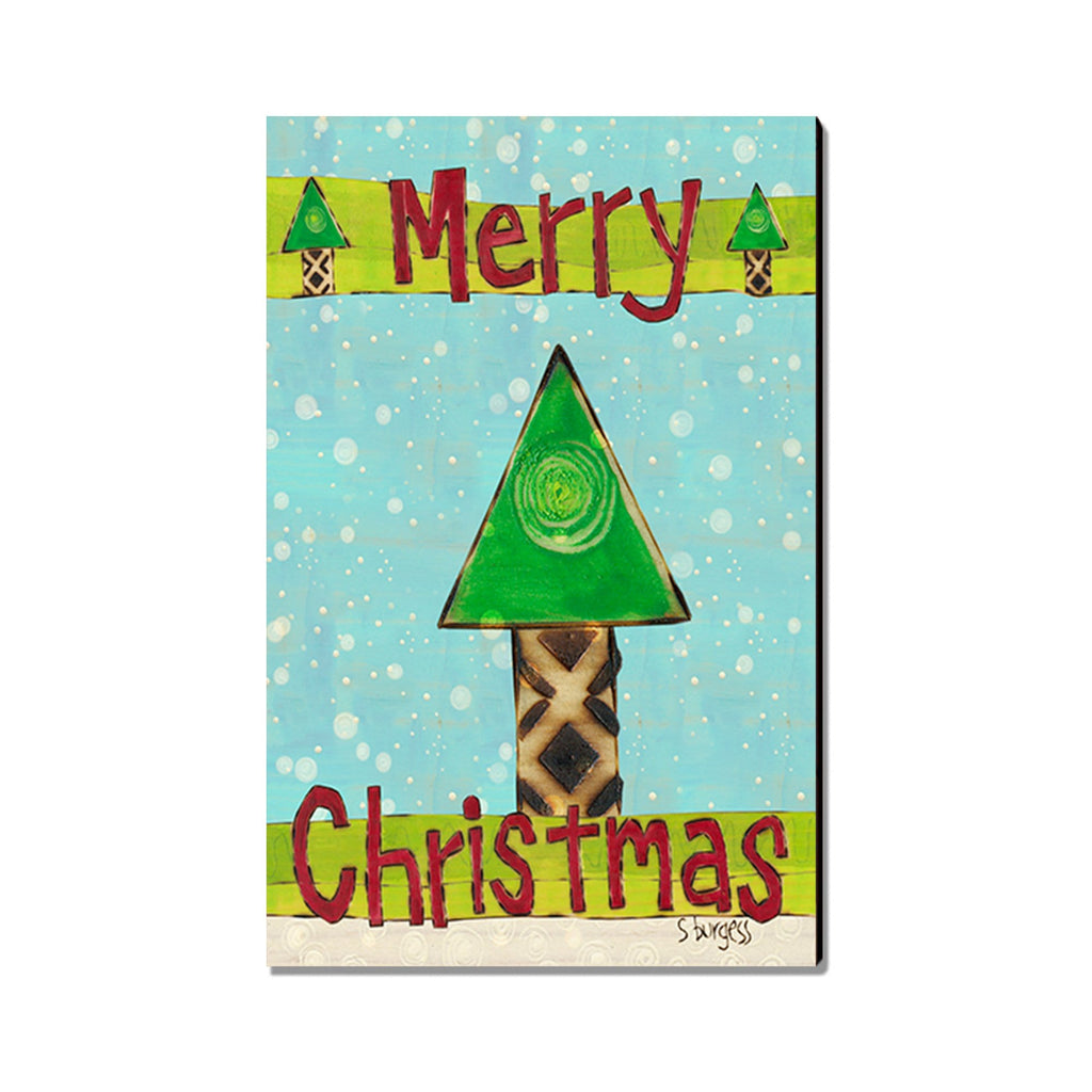 Burgess' Merry Christmas Tree - Mailable Wood Postcard - Single Image Multi Pack DaydreamHQ