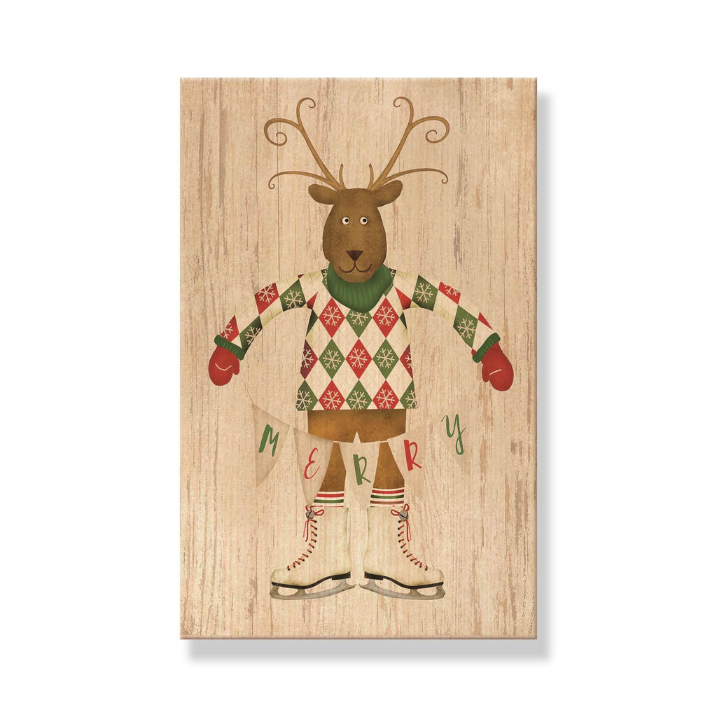 Merry Reindeer - Mailable Wood Postcard - Single Image Multi Pack DaydreamHQ