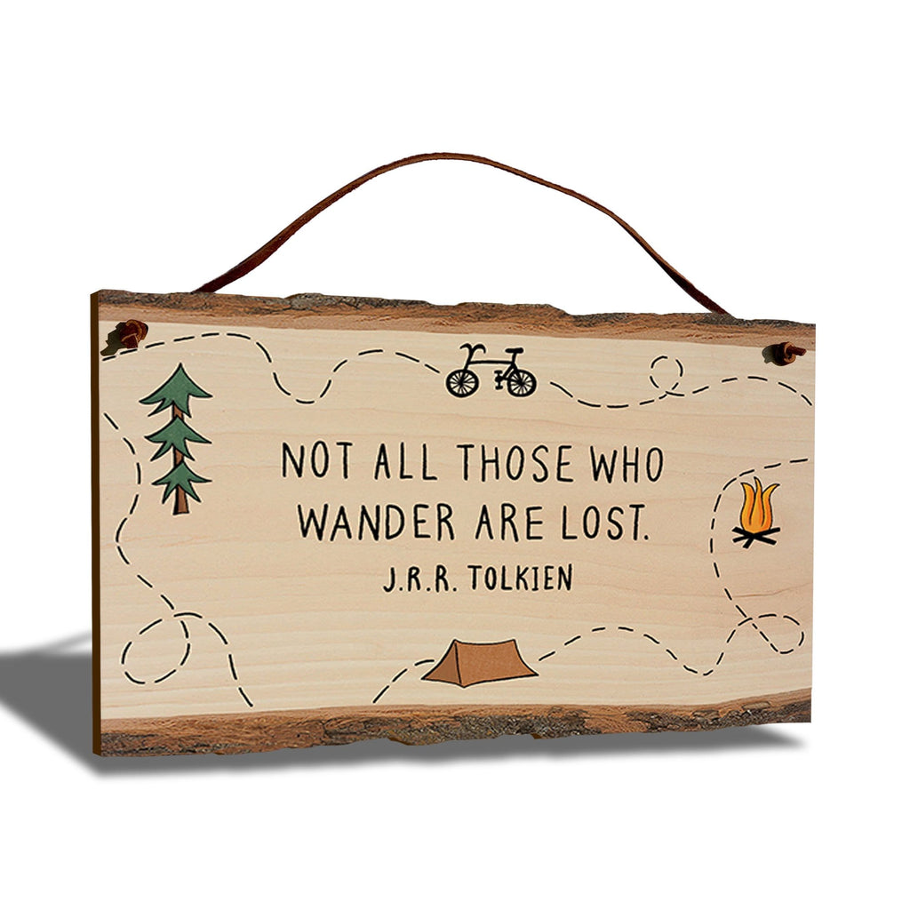 "J.R.R. Tolkien Not Lost Quote on 9""x6"" Live Edge DaydreamHQ"