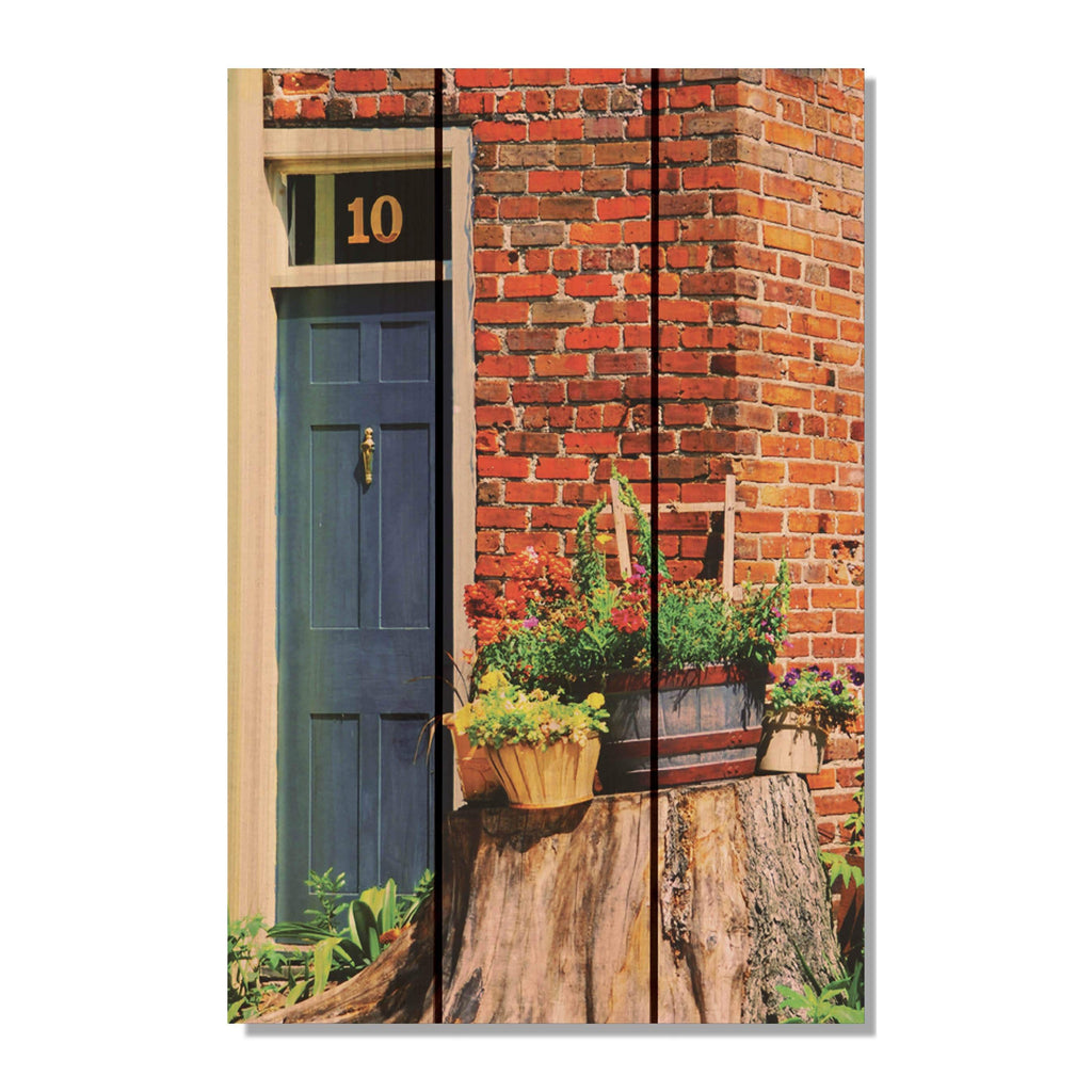 No. 10 Brick House - Wood Wall Art DaydreamHQ FenceEscape 16x24