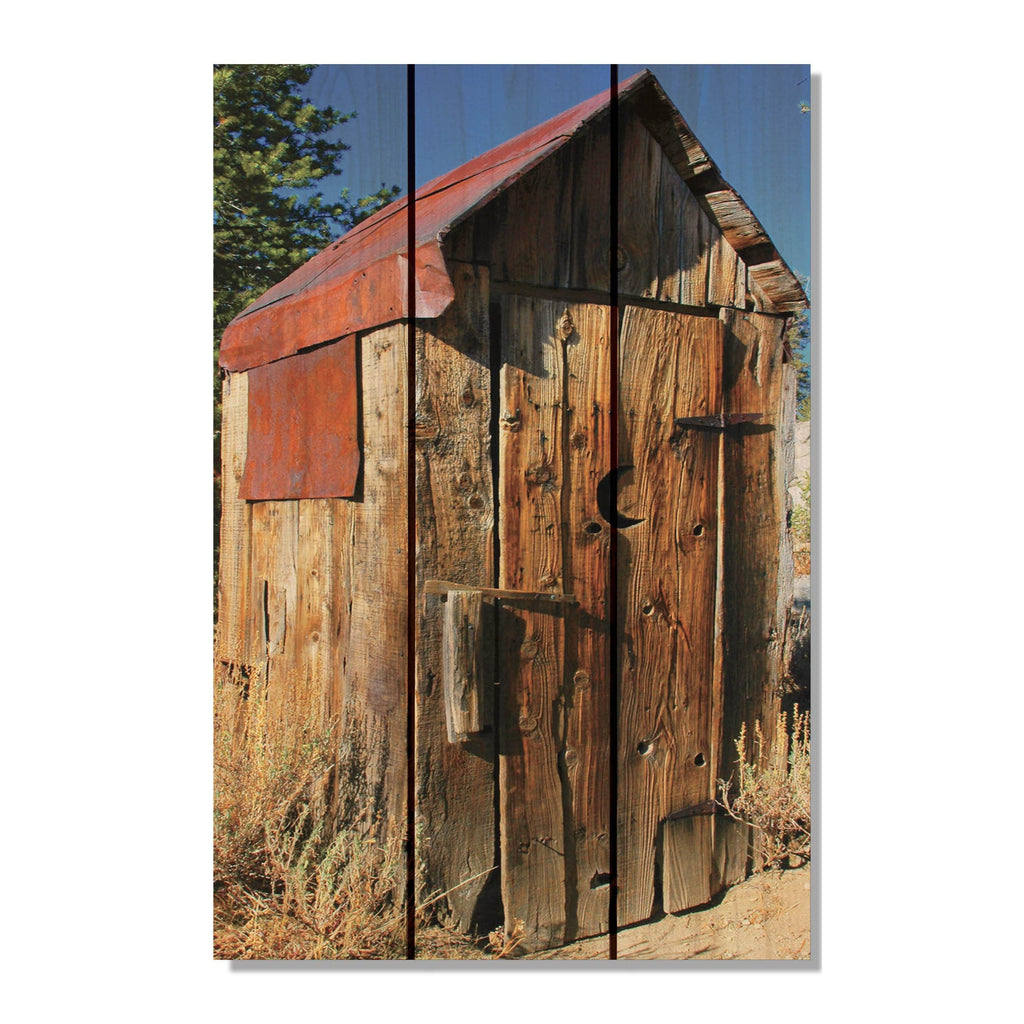 Out House - Wood Wall Art DaydreamHQ FenceEscape 16x24