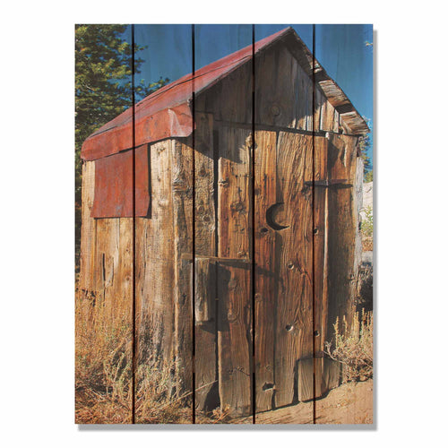 Out House - Wood Wall Art DaydreamHQ FenceEscape 28x36