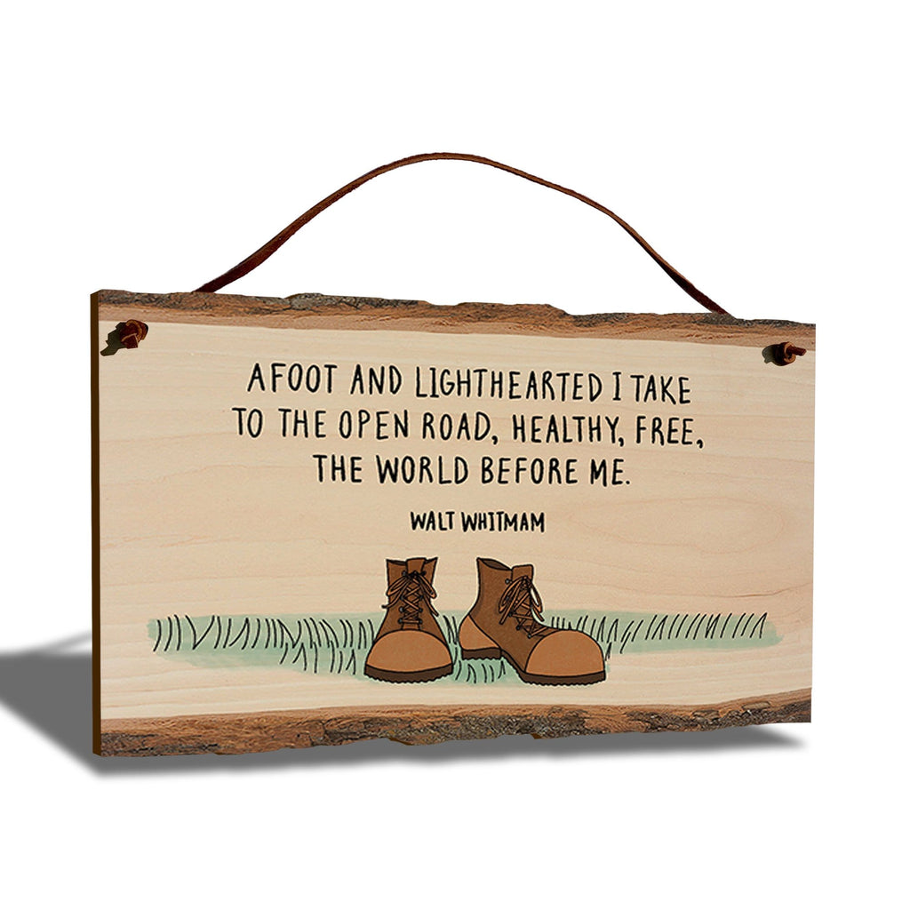 "Walt Whitman Open Road Quote on 9""x6"" Live Edge DaydreamHQ"