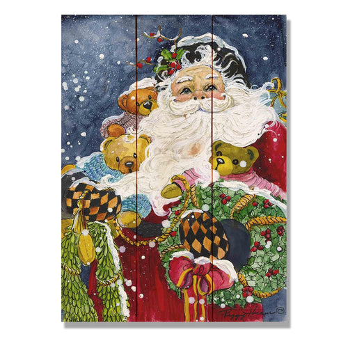 "Abrams' Noble Santa - Classic Pine Wood Artist Series DaydreamHQ Pine Wall Art 11""x15"""