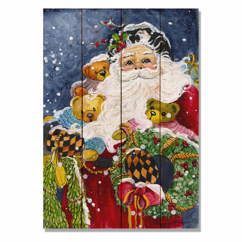 "Abrams' Noble Santa - Classic Pine Wood Artist Series DaydreamHQ Pine Wall Art 14""x20"""