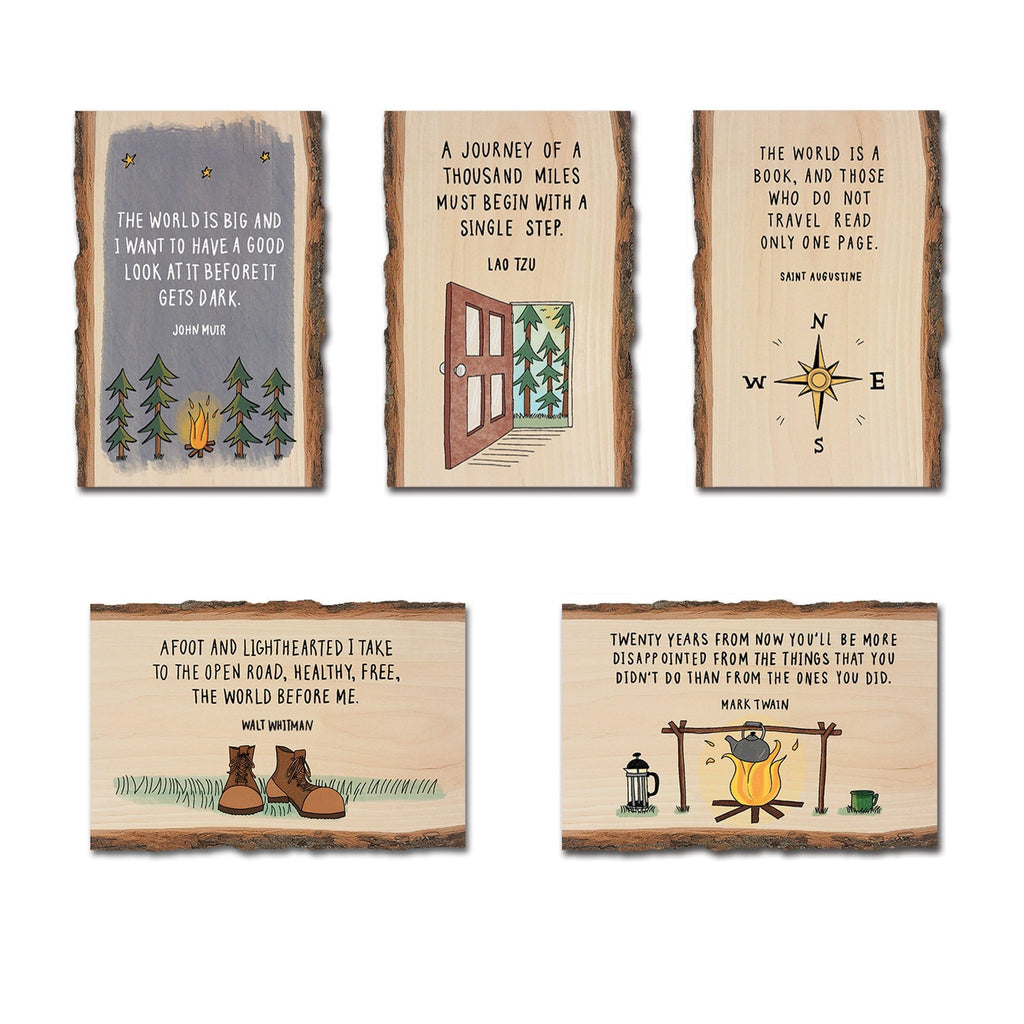 Nature Quotes on Mailable Wood Postcards - Pack 1 DaydreamHQ