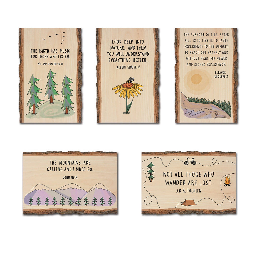 Nature Quotes on Mailable Wood Postcards - Pack 2 DaydreamHQ
