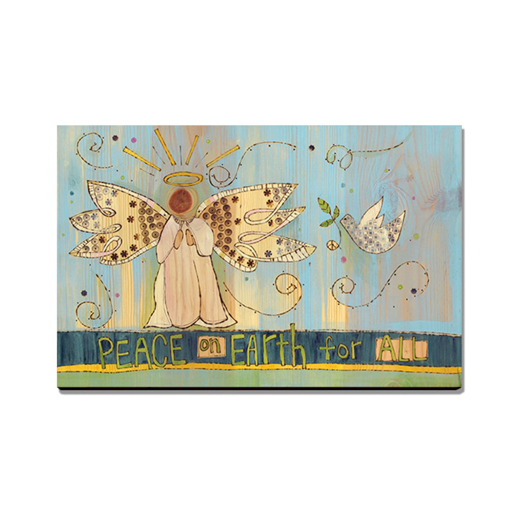 Burgess' Peace Angle - Mailable Wood Postcard - Single Image Multi Pack DaydreamHQ