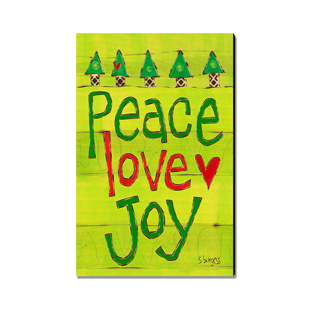 Burgess' Peace Love Joy - Mailable Wood Postcard - Single Image Multi Pack DaydreamHQ