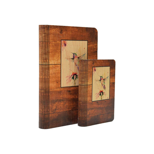 Pee Wee Hummingbird - One Peace Wood Journal DaydreamHQ Gift