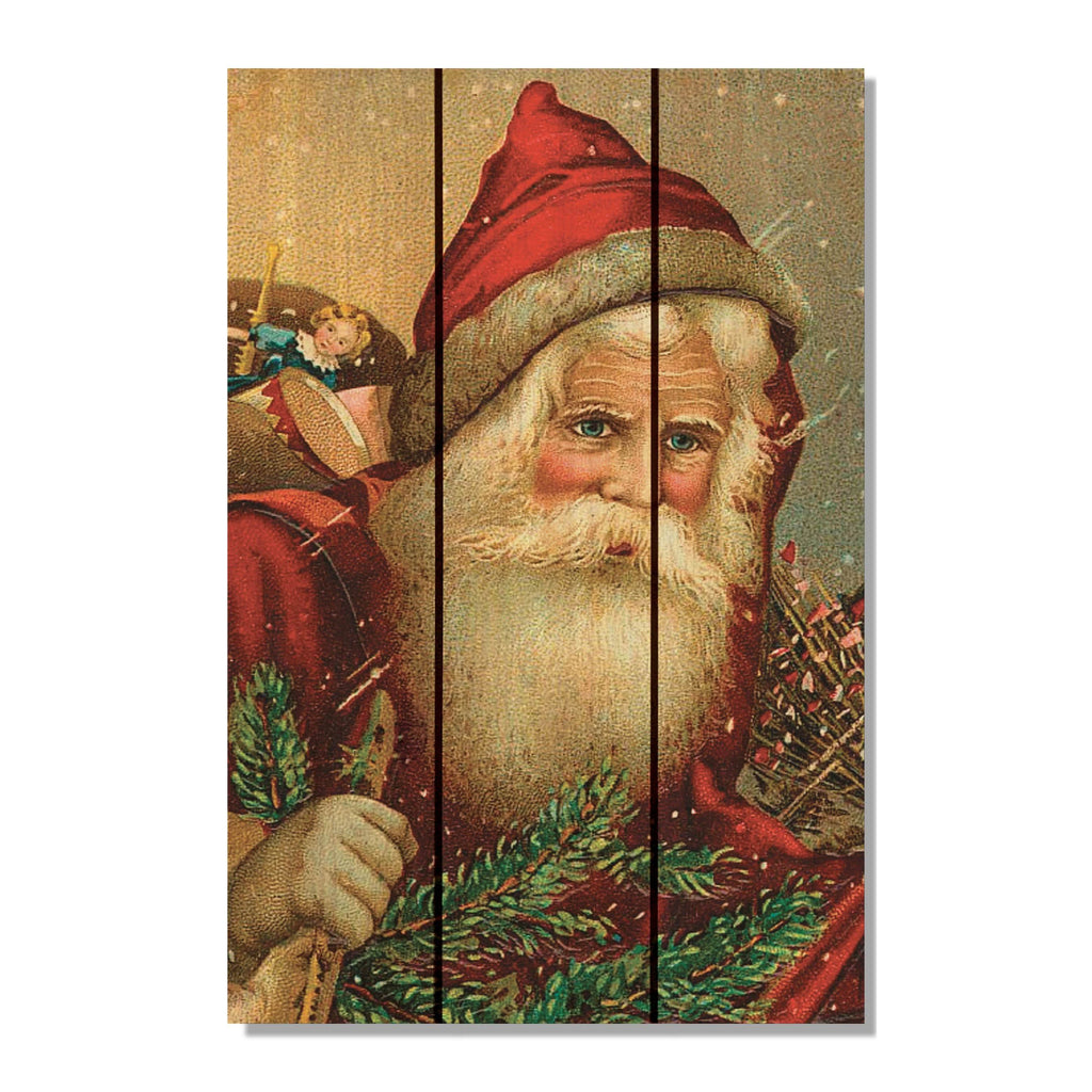 Red Hat Santa - Christmas Wood Wall Art DaydreamHQ FenceEscape 16x24