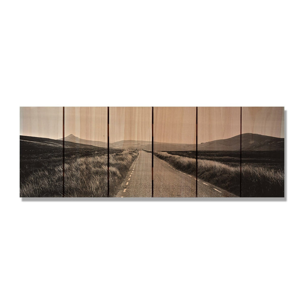 "Road to Nowhere - Wood Wall Art DaydreamHQ FenceEscape 32""x11"""