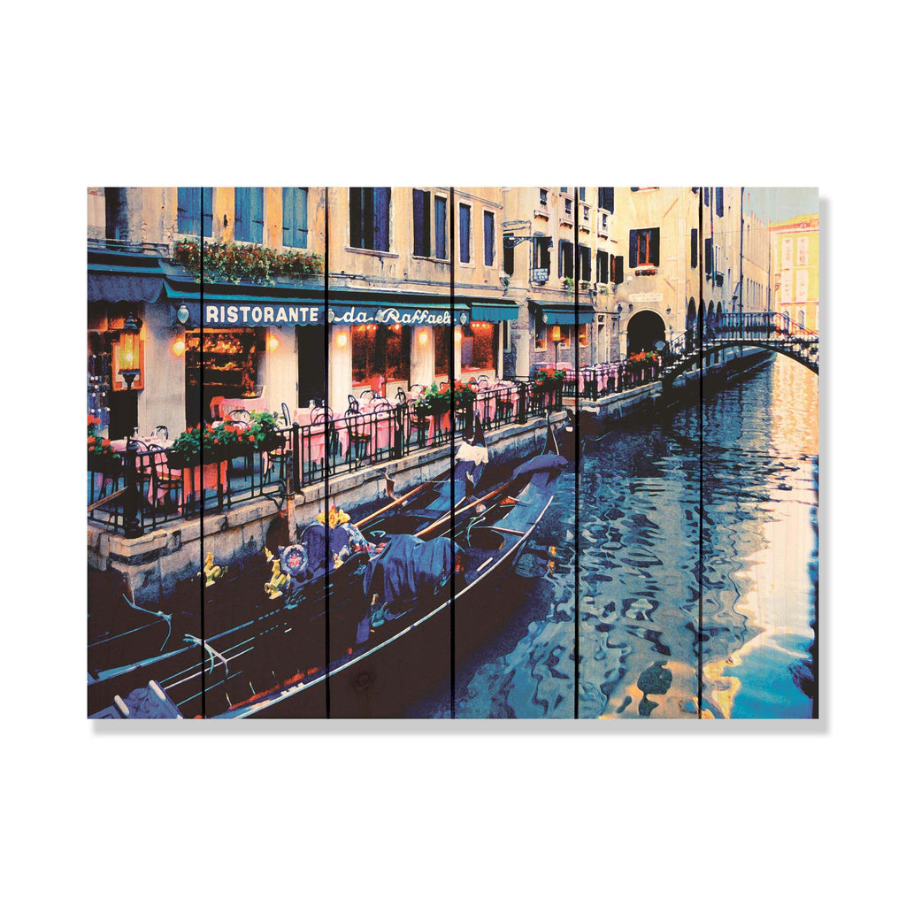 Raffael's Restorante - Wood Wall Art DaydreamHQ FenceEscape 33x24