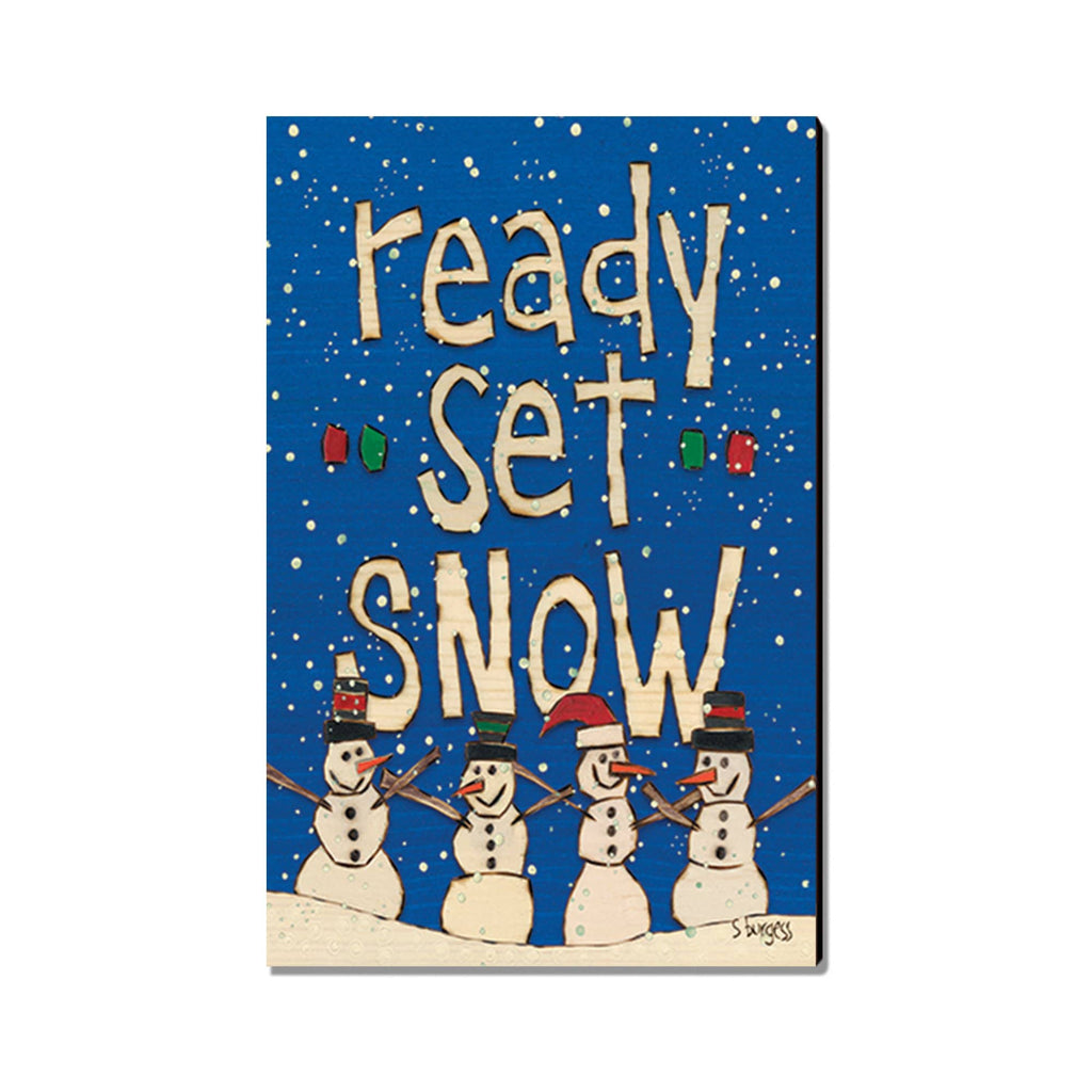Burgess' Ready, Set, Snow! - Mailable Wood Postcard - Single Image Multi Pack DaydreamHQ