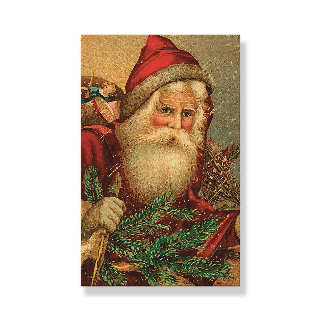 Red Hat Santa - Mailable Wood Postcard - Single Image Multi Pack DaydreamHQ