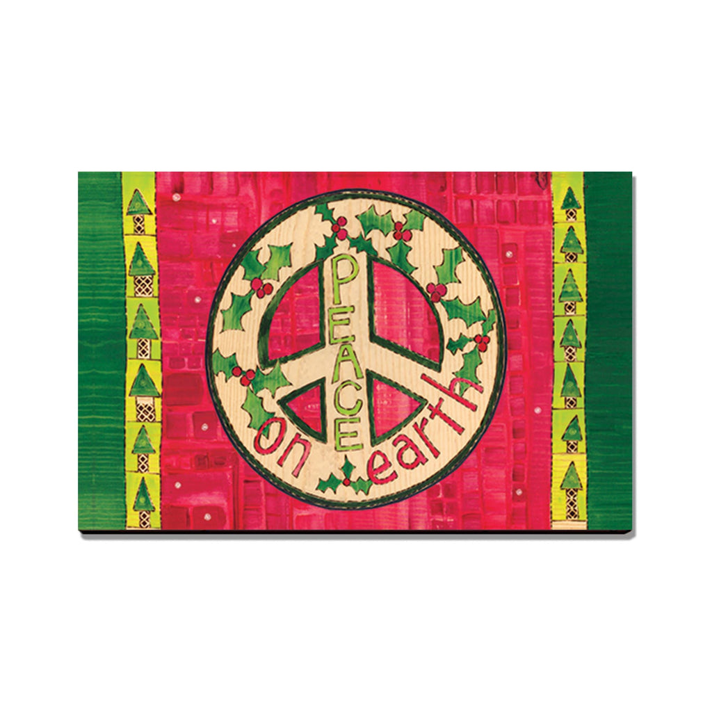Burgess' Red Peace - Mailable Wood Postcard - Single Image Multi Pack DaydreamHQ