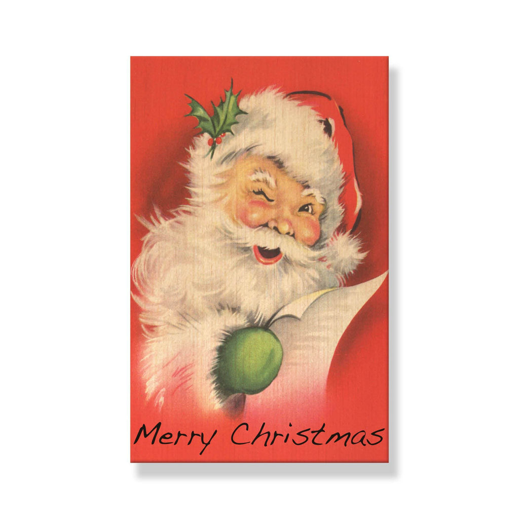 Vintage Red Santa - Mailable Wood Postcard - Multi Pack DaydreamHQ