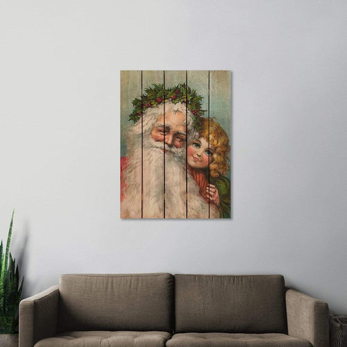 Santa's Girl - Christmas & Holiday Wood Wall Art DaydreamHQ FenceEscape