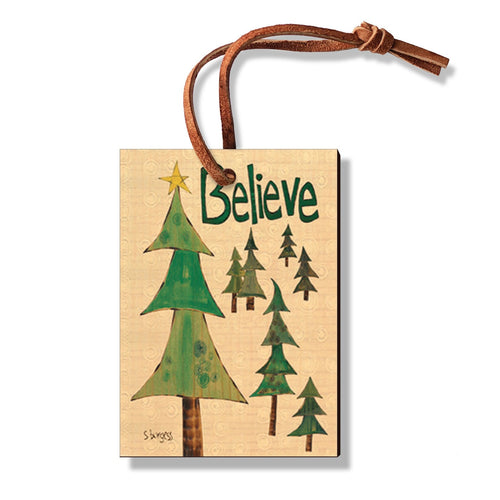 Burgess' Holiday Set 3  - Pack of 5 Solid Wood Ornaments Daydream HQ Ornament