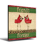 Solid Wood Wall Art - Painted Peace by Stephanie Burgess' Friends Forever - 12x12