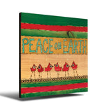 Solid Wood Wall Art - Painted Peace by Stephanie Burgess' Peace On Earth Birds - 12x12