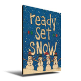 Solid Wood Wall Art - Painted Peace by Stephanie Burgess' Ready Set Snow - 12x18