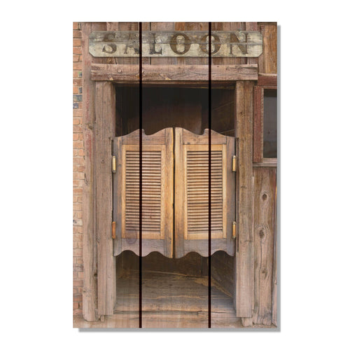 "Saloon Door - Western Wood Wall Art DaydreamHQ FenceEscape 16""x24"""