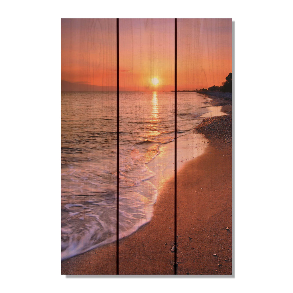 Sunset Beach- Gizaun Art Outside by Mike Pine Wall Art 16x24