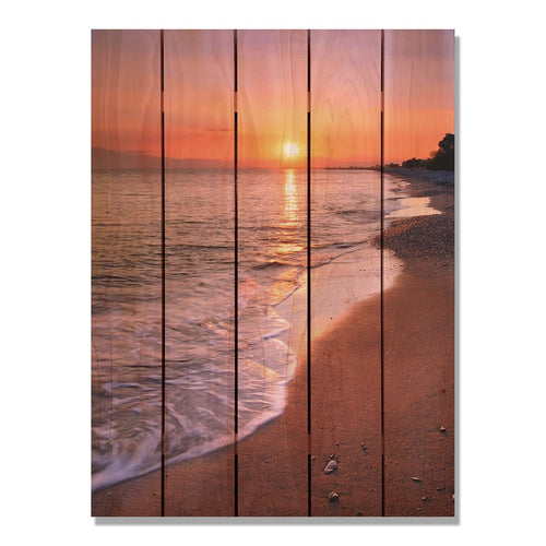 Sunset Beach- Gizaun Art Outside by Mike Pine Wall Art 28x36