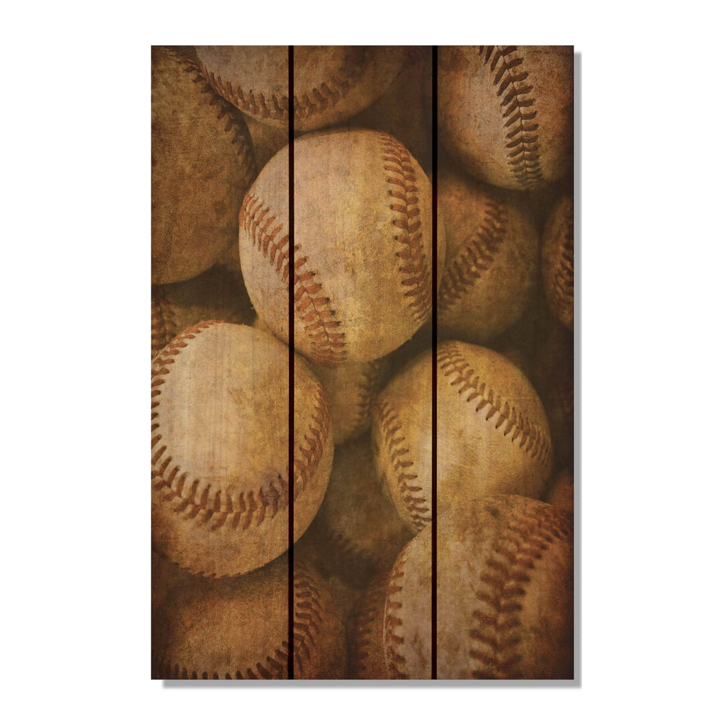 Vintage Baseball Outside by Mike FenceEscape 16x24
