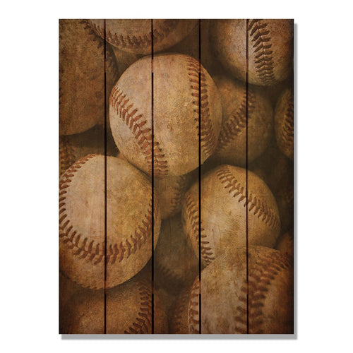 Vintage Baseball Outside by Mike FenceEscape 28x36