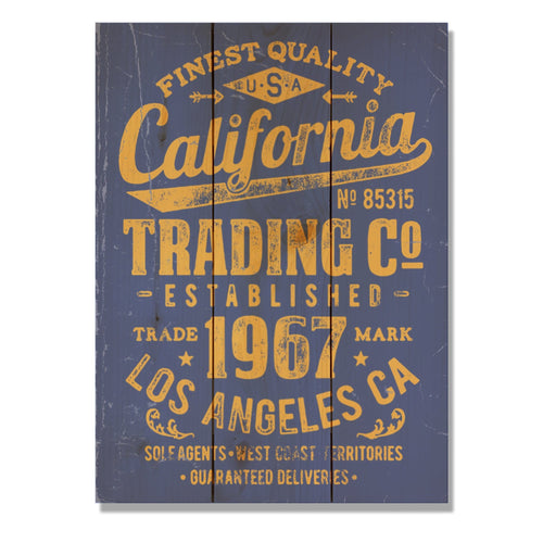 "California Trading Co - Classic Pine Wood Art DaydreamHQ Pine Wall Art 11""x15"""