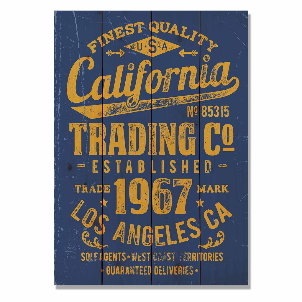 "California Trading Co - Classic Pine Wood Art DaydreamHQ Pine Wall Art 14""x20"""