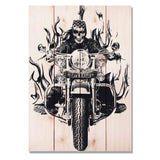 Death Valley Bike - Classic Pine Wood Art
