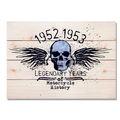 Legendary Years 1952 - Classic Pine Wood Art