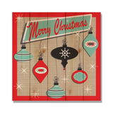Retro Christmas - Classic Pine Wood Art Art