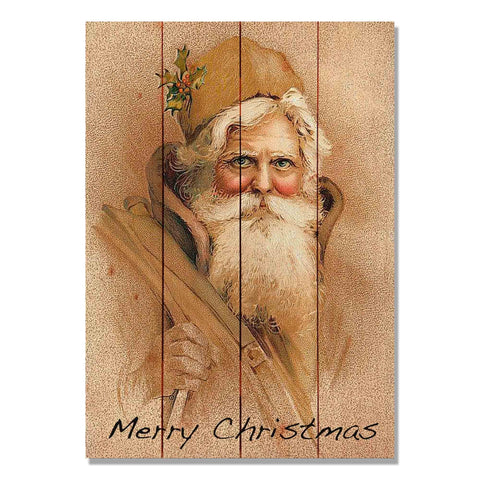 Father Christmas - Classic Pine Wood Art