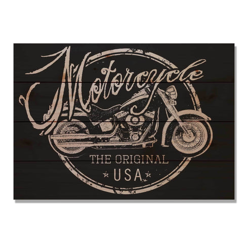 Motorcycle The Original - Classic Pine Wood Art