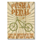 "Push A Pedal - Classic Pine Wood Art DaydreamHQ Pine Wall Art 11""x15"""