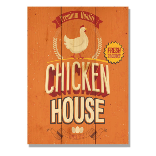 "Chicken House - Classic Pine Wood Art DaydreamHQ Pine Wall Art 11""x15"""