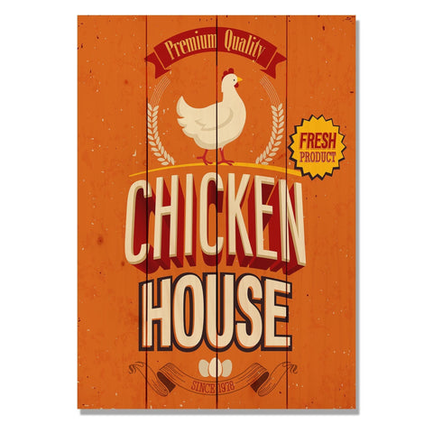 Chicken House - Classic Pine Wood Art