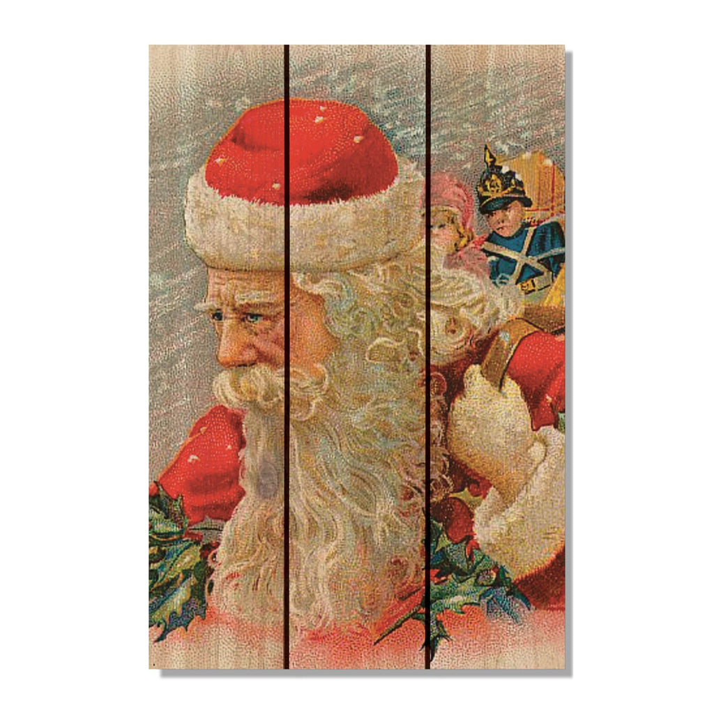 Wind Santa - Christmas Wood Wall Art DaydreamHQ FenceEscape