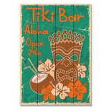 Tiki Bar - Classic Pine Wood Art