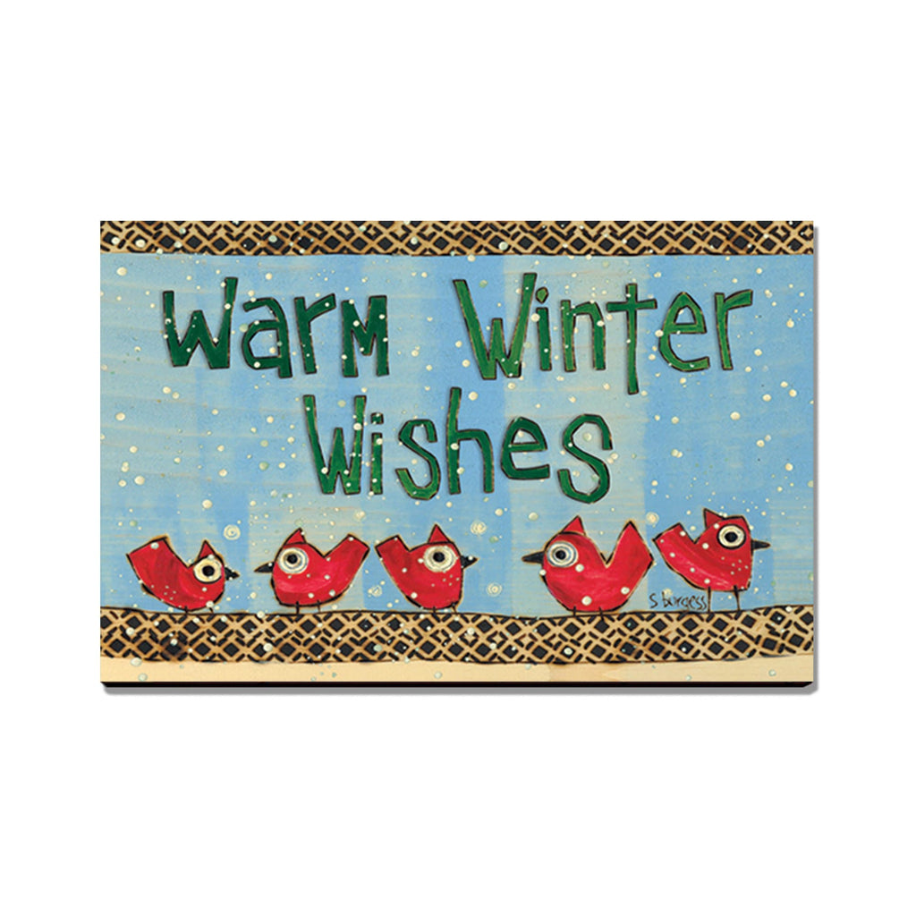 Burgess' Warm Winter Wishes - Mailable Wood Postcard - Single Image Multi Pack DaydreamHQ