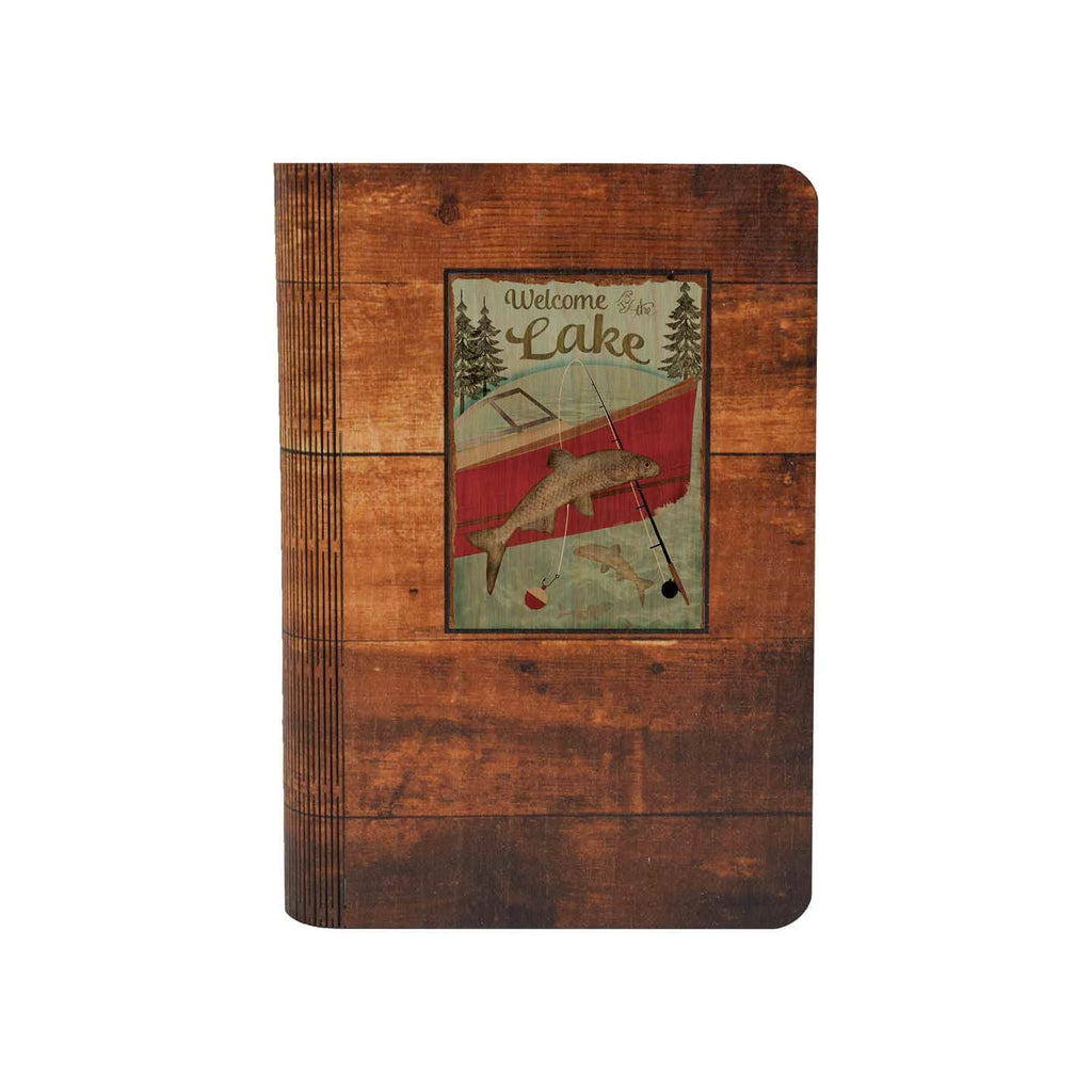 Welcome to the Lake - Solid One Piece Wood Journal