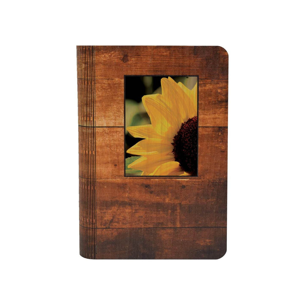 Yellow Sunflower - One Piece Wood Journal DaydreamHQ Gift