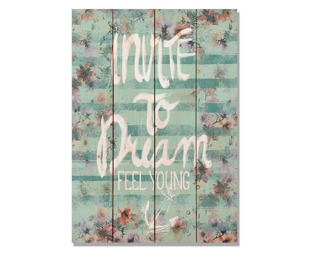 Invite to Dream - Quote Wood Wall Decor DaydreamHQ 14x20