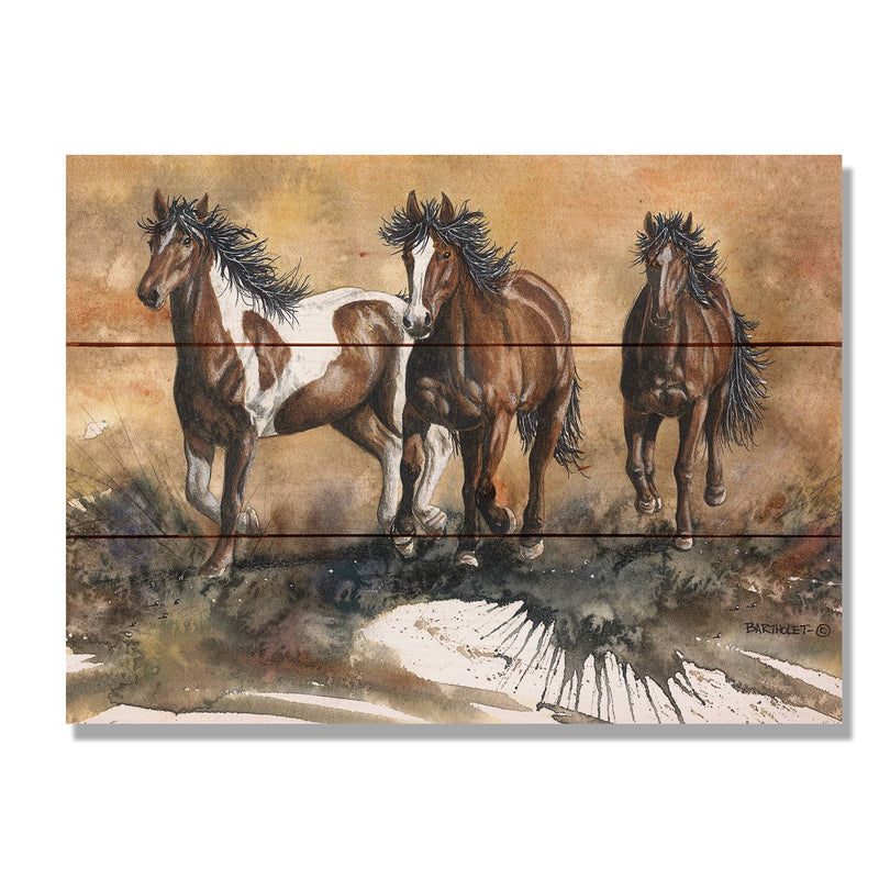 Horse Print / Wood Pallet Wall Art / Rustic Home Decor / Horse Painting / Horse Watercolor / Horse Art / Horse Gift / Wild Horses / Wood Art DaydreamHQ